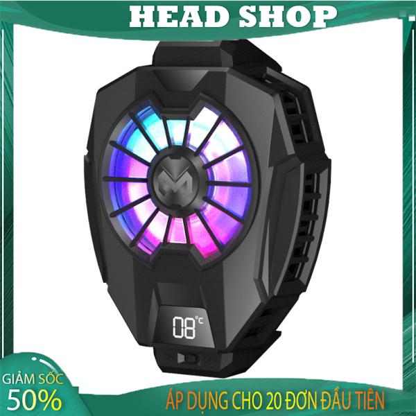 Quạt tản nhiệt gaming MEMO DL05 thế hệ 5 cho điện thoại sò lạnh tích hợp màn hình led công tắc tắt bật HEAD SHOP