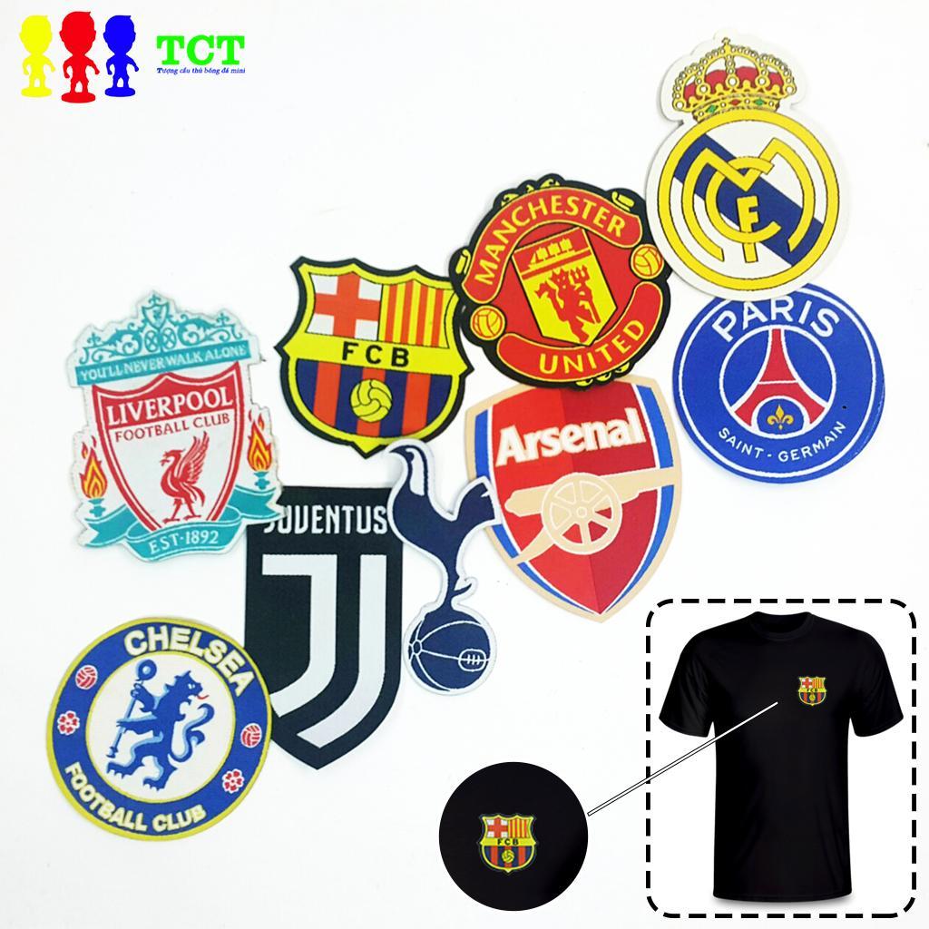 Logo Rời Vải Dệt Hình Clb Mu Real Barca Juventus Liverpool Arsenal Mancity Trang Trí ủi Lên Quần áo Khuyến Mãi Sốc