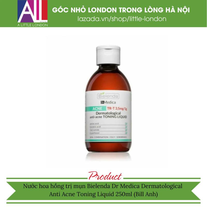 Nước hoa hồng trị mụn Bielenda Dr Medica Dermatological Anti Acne Toning Liquid 250ml (Bill Anh)