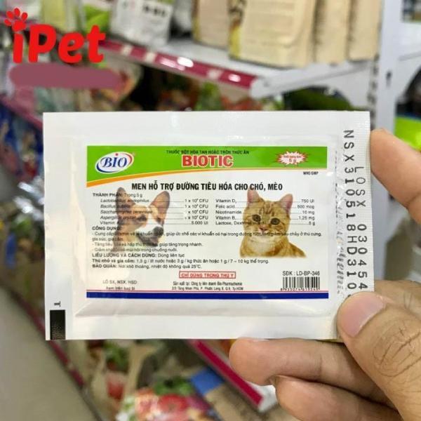 Men Tiêu Hóa Cho Chó Mèo BIOTIC 5g - iPet Shop