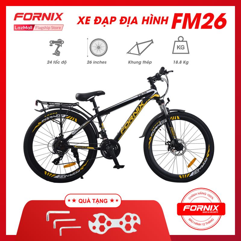 Mua Xe đạp địa hình thể thao Fornix FM26- Vòng bánh 26 (KÈM SÁCH HƯỚNG DẪN) - Bảo hành 12 tháng + Tặng kèm bộ lắp ráp