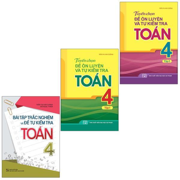 Mua Sách: Combo 3 Cuốn Lớp 4: Bài Tập Trắc Nghiệm + Tuyển Chọn Và Tự Kiểm Tra Toán