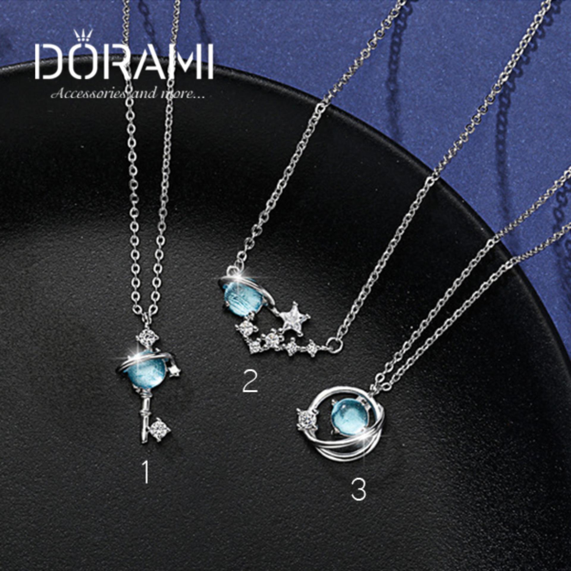 Dây chuyền nữ biển xanh nhẹ nhàng đơn giản dễ thương nhiều mẫu xinh style ulzzang hàn quốc - dorami