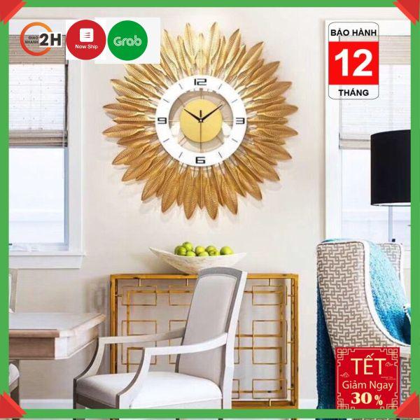 Nơi bán [GIÁ SIÊU SỐC] Đồng hồ treo tường hoa mặt trời vàng Lian633