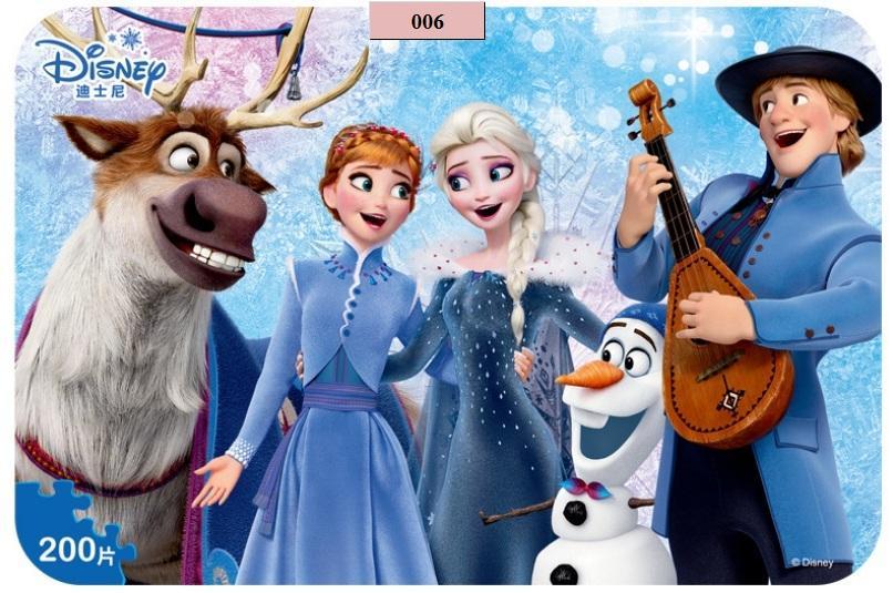 Giảm Giá Khi Mua cho Đồ Chơi Tranh Xếp Hình 200 Miếng Hộp Sắt In Dập Nổi - Ghép Hình Elsa Và Anna