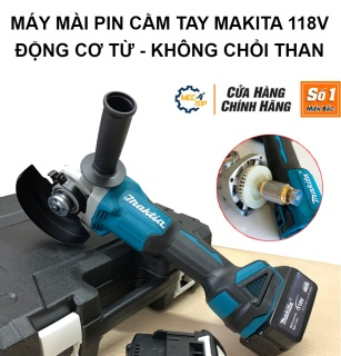 Máy Mài Pin Makita 118V - 2 pin 20000mAh 3 Tốc Độ ,Động Cơ Không Chổi Than, Dây Bằng Đồng - Tặng Đá Cắt Bảo Hành 1 Năm thumbnail