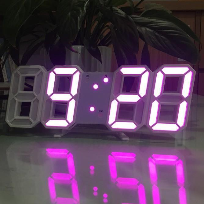 Đồng hồ Để Bàn hoặc Treo Tường Điện Tử 3D - Báo Thức & Đo Nhiệt Độ - VNYDH92 bán chạy