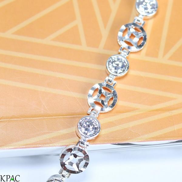 Lắc tay bạc 92.5% KPAC: Kim tiền (lu0818102)