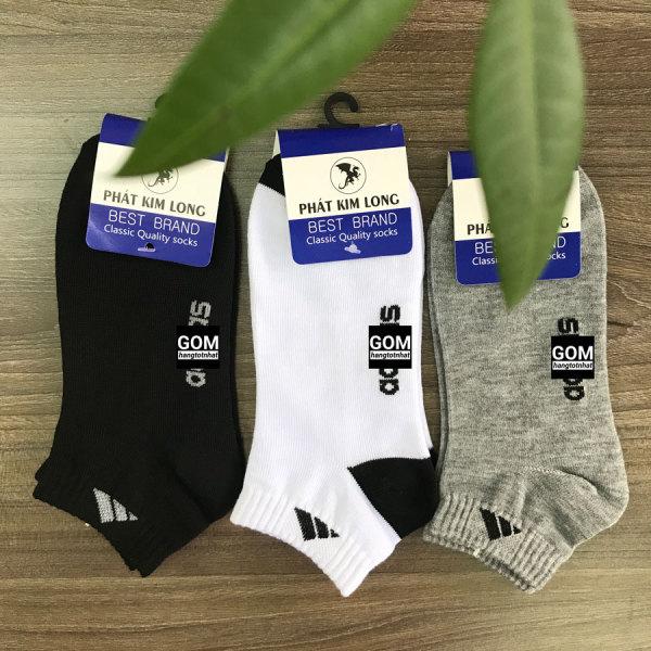 Set 5 đôi Tất CỔ NGẮN GOM hàng VNXK, vải dày vừa, chất liệu cotton thoáng mát khử mùi