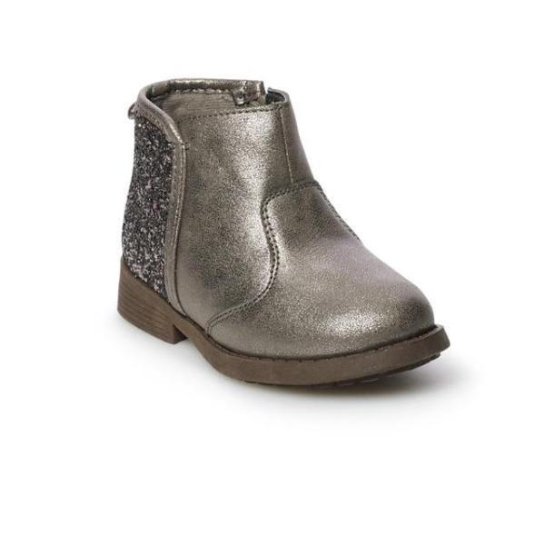 Giá bán ⚡️THANH LÝ⚡️Giầy boot ⚡OSHKOSH XUẤT DƯ⚡ nhũ bé gái kéo khoá tiện lợi size 20-30