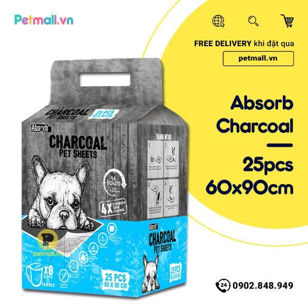 Tấm lót vệ sinh CHARCOAL 60x90cm - 25 tấm than hoạt tính