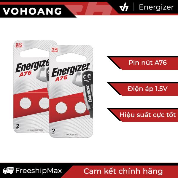 Bảng giá 4 pin nút áo Energizer A76 BP2 điện áp 1.5V - Lắp máy tính, đồng hồ, đồ chơi, ...