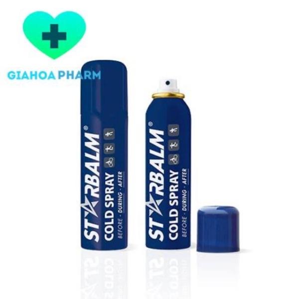 Starbalm Cold Spray 150ml – Chai xịt lạnh giảm bầm tím, bong gân nhập khẩu