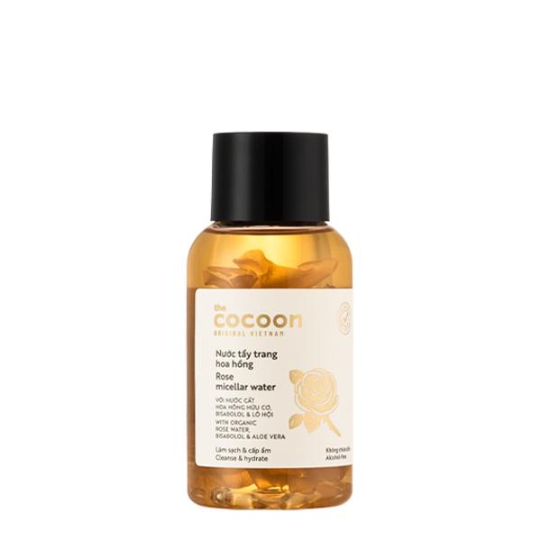 Nước tẩy trang hoa hồng cocoon 140ml giúp sạch da, làm dịu và cấp ẩm