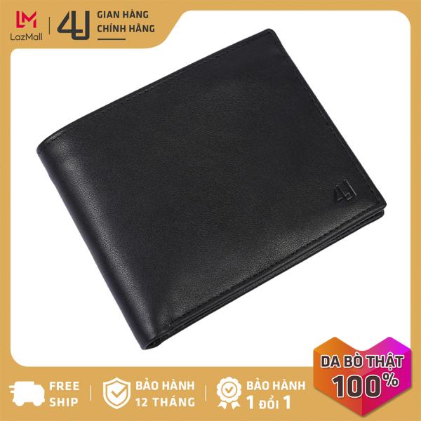 Bóp ví nam da bò thật 4U cao cấp, có nhiều ngăn đựng tiền và thẻ tiện dụng FA240