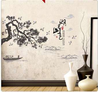 Giấy dán tường phong cảnh, decal phong cảnh trang trí phòng khách