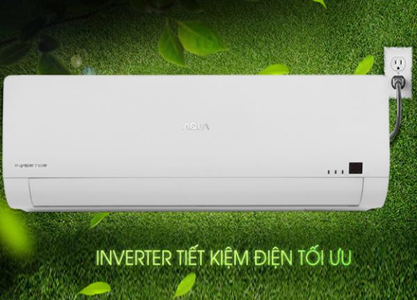 Bảng giá Máy Lạnh, điều hòa AQUA 18000 Inverter 1.5 HP AQA-K/CRV18WGSB, làm lạnh nhanh, tiết kiệm điện, Công suất tiêu thụ trung bình: 1080 W