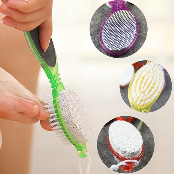 Dụng cụ chà gót chân tẩy da chết bằng nhựa đa năng 2 đầu nhập khẩu