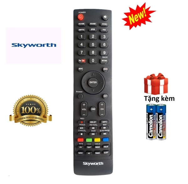 Bảng giá Điều khiển tivi Skyworth, remote tv skyworth - Hàng tốt [ tặng kèm pin ]