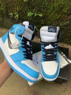 Giày Jordan 1 High University Blue [QUÀ TẶNG] Giày Thể Thao Air Jordan Xanh Móc Đen, Giày JD1 Cổ Cao Cao Nam Nữ Hot 2021 thumbnail