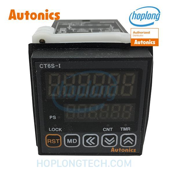 CT6S-I4 Bộ đặt thời gian truyền thông Modbus 6 chữ số 100-240VAC ngõ ra One-short AUTONICS