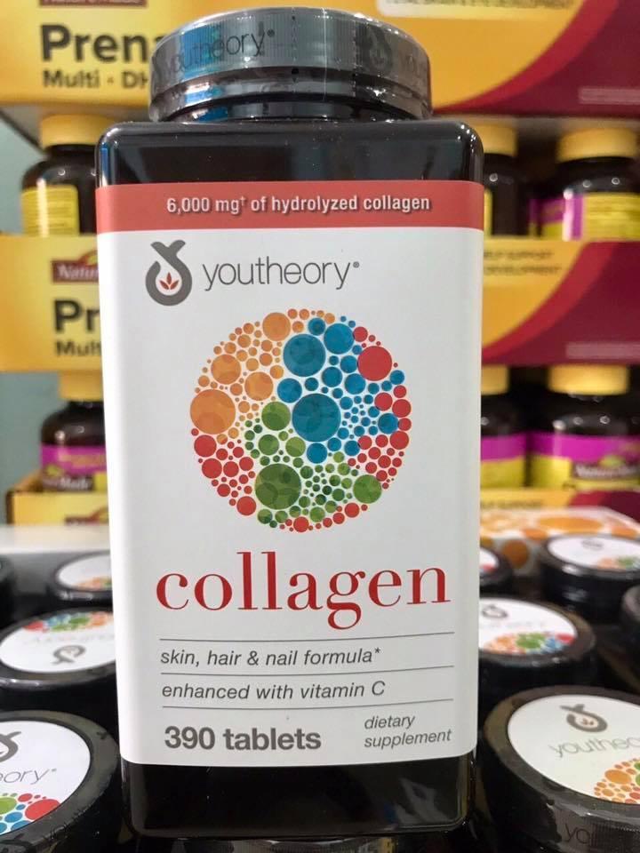 Collagen Youtheory Type 1 2 & 3 Của Mỹ, 390 viên