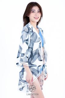 Áo khoác Kimono Nữ LMcation Mara - Sóng Trắng thumbnail