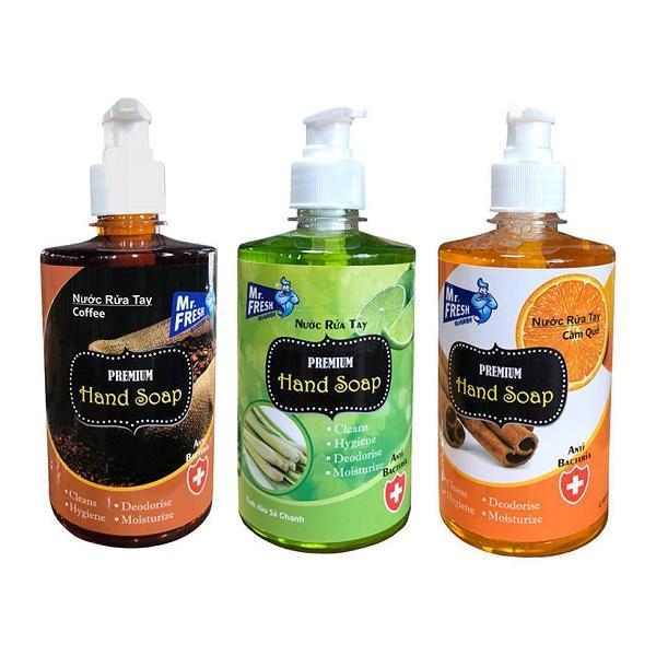 Bộ 3 bình nước rửa tay tiệt trùng Mr Fresh Korea 500ml (Nhiều hương tùy chọn) KL457 giá rẻ