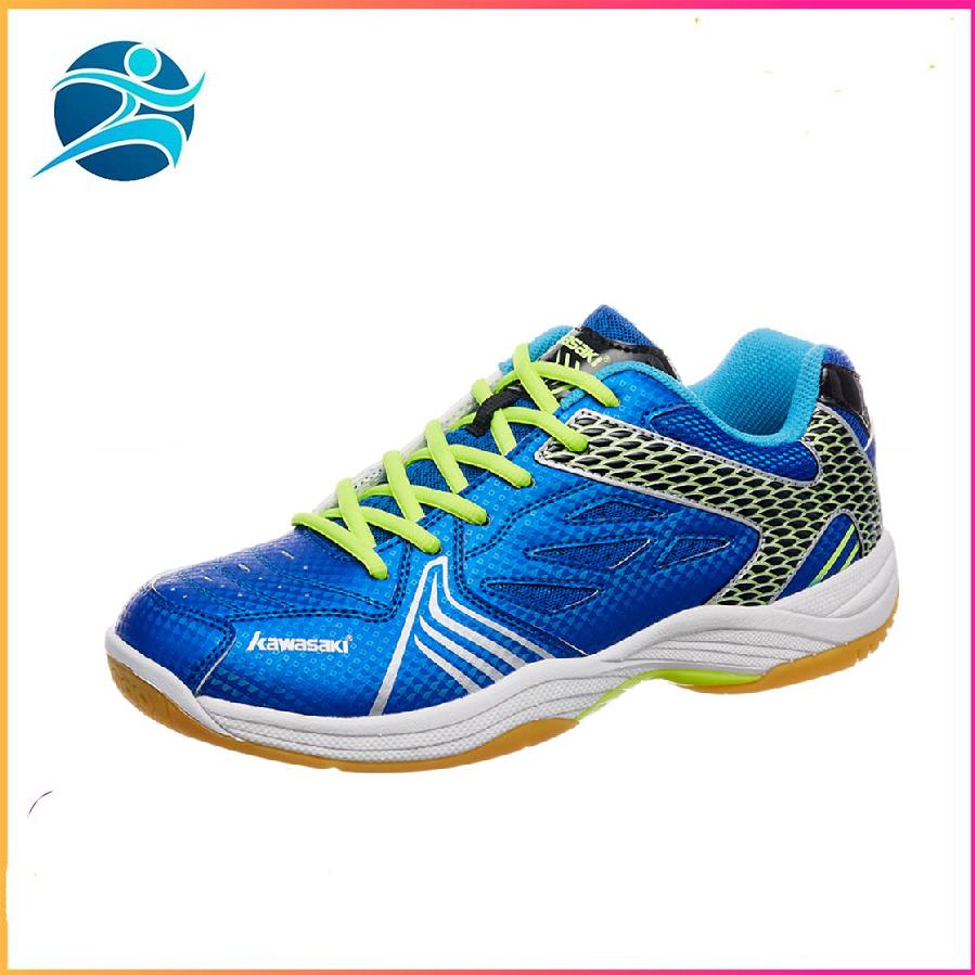 Giày thể thao nam nữ Kawasaki K071 màu xanh, đế kếp chống lật cổ chân, da PU mềm ôm chân, Bảo hành 24 tháng - Giày đánh bóng chuyền - giày cầu lông - giày thể thao nam nữ - bsport, b.sport