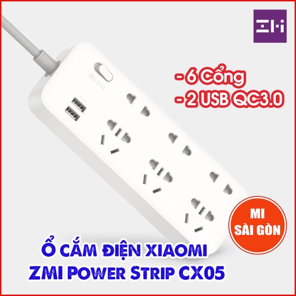 Bảng giá Ổ cắm điện 6 Cổng 2 USB Sạc nhanh 18W ZMI CX05
