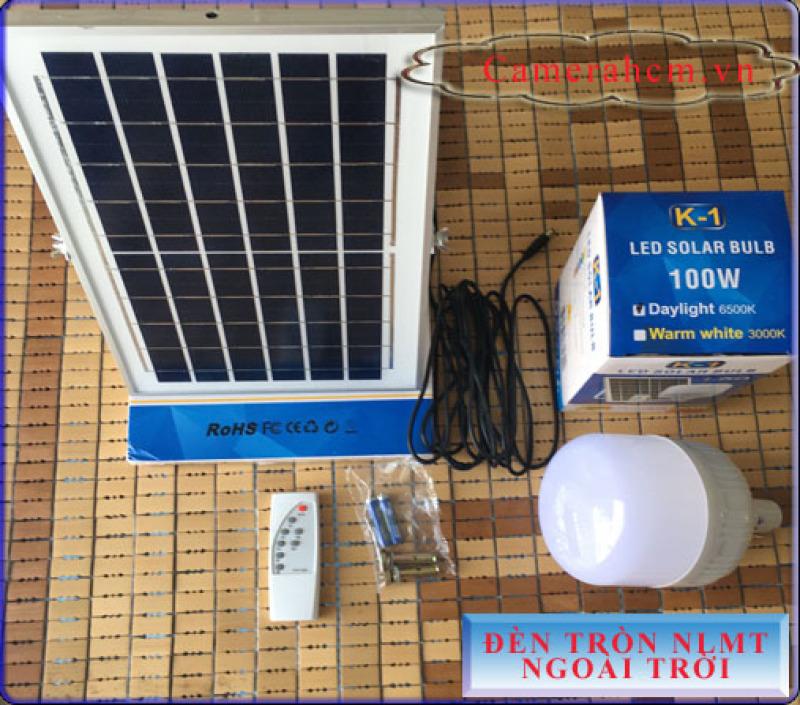 Đèn tròn năng lượng mặt trời 100W - Hàng Xịn - Độ sáng cực mạnh, tấm pin năng lượng mặt trời lớn