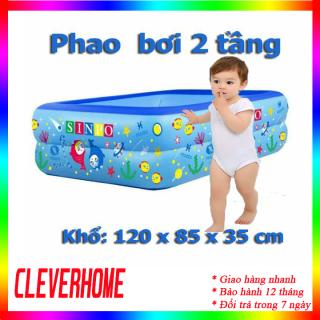 Phao boi cho bé 2 tầng - Bể bơi phao cho bé hình chữ nhật họa tiết dễ thương- Bể bơi phao cho bé- Bể bơi 2 tầng cho bé- HỒ BƠI CHO BÉ - ho boi cho be - HỒ BƠI TRẺ EM - BỂ TẮM TRẺ EM - bể bơi - bể tăm thumbnail