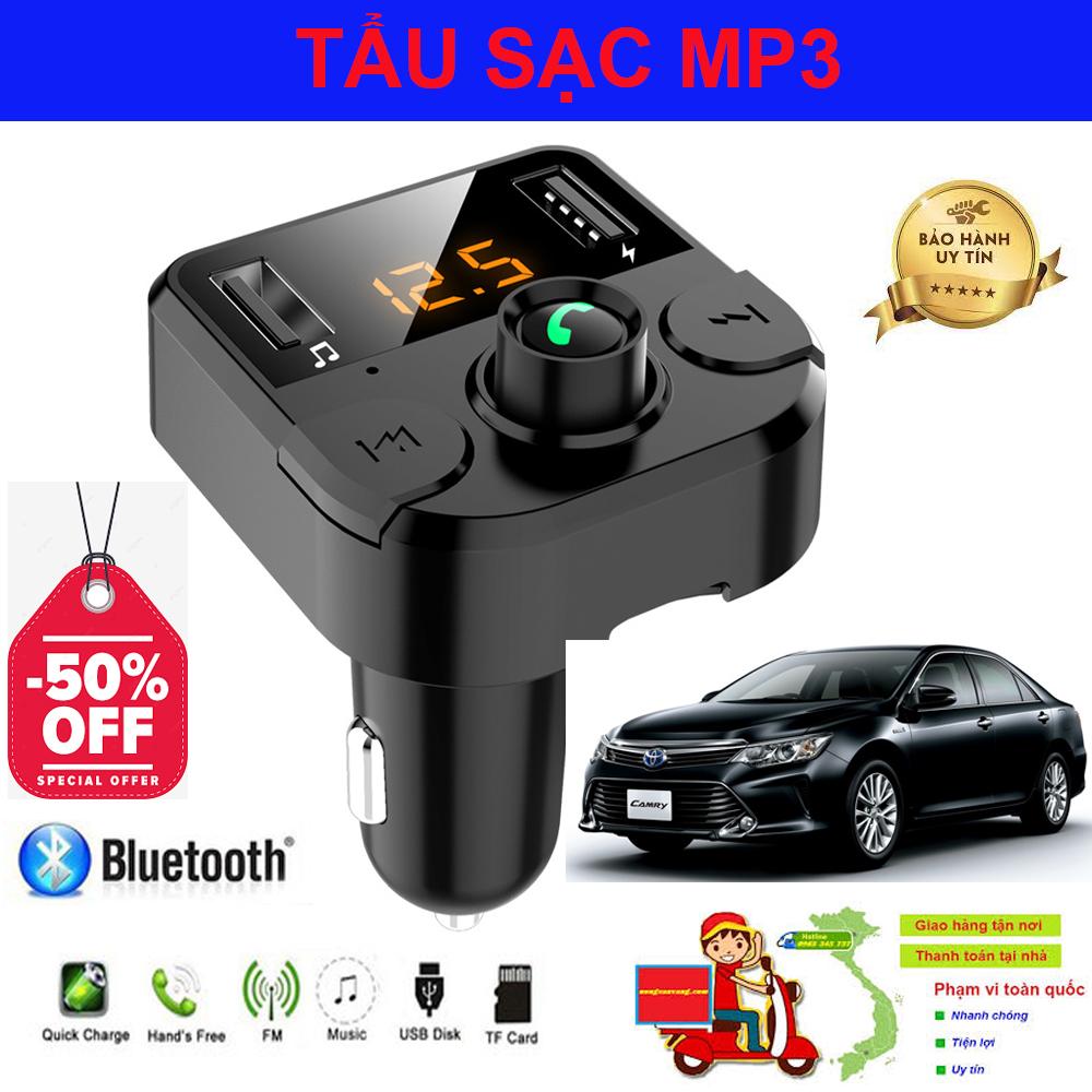 Tẩu Mp3 Cho Ô Tô, Tẩu Sạc Xe Hơi, Tẩu Sạc Nhanh Ô Tô. Tẩu sạc đa năng có kết nối Bluetooth, định vị GPS, Nghe Nhạc - FM, nghe điện thoại - sạc PIN. Thiết kế nhỏ gọn - tiện lợi. BẢO HÀNH 1 ĐỔI 1.