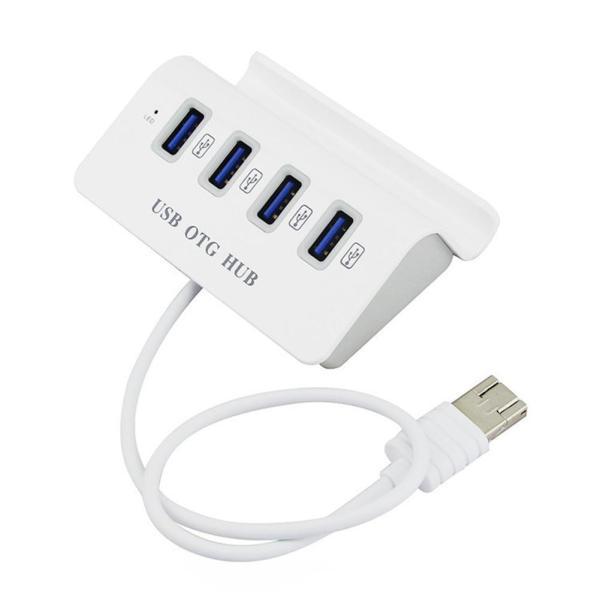 Giá Bộ chia 4 Cổng USB OTG HUB với Dock cho điện thoại thông minh & Máy Tính