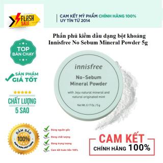 Phấn Phủ Kiềm Dầu Bột Khoáng Innisfree No Sebum Mineral Powder 5g [ Cam Kết Hàng Chuẩn 100 % ] thumbnail