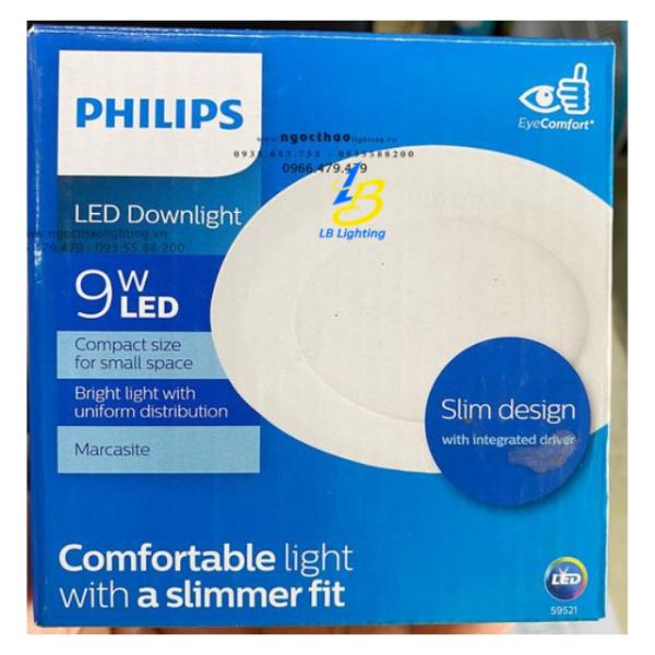 [SALE LỚN] Đèn Downlight (âm trần) 59521 9w D95  Philips [CHÍNH HÃNG] Uy Tín, Chất Lượng, Bền Đẹp, Siêu Sáng, Siêu rẻ