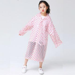 Áo mưa trẻ em chất poly mềm nhẹ cho bé 4-10 tuổi hoạt tiết chấm bi nhiều màu sắc đơn giản gọn nhẹ phù hợp cho bé mang đi học BBShine Baby-S – SAM012