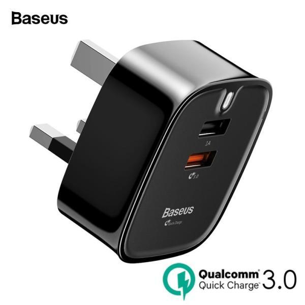 Baseus Bộ sạc USB Sạc nhanh 3.0 Bộ sạc tường Turbo Anh cắm QC3.0 Bộ sạc nhanh cho máy tính bảng Samsung Điện thoại di động