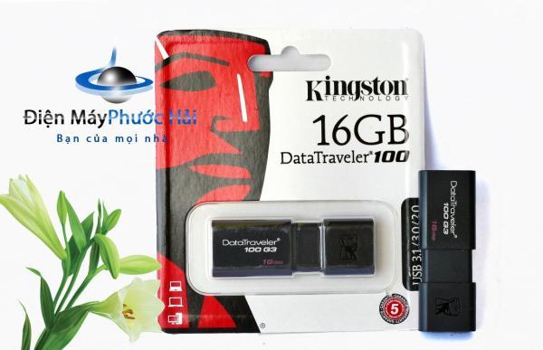 Bảng giá USB 3.0 16GB Kingston DT 100 G3 Phong Vũ