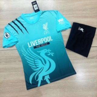 Áo Bóng Đá Liverpool 2021 Vải Thun Thái Cao Cấp Màu Xanh - Bộ Quần Áo Bóng Đá Nam PP Bởi Be Happy Sport thumbnail