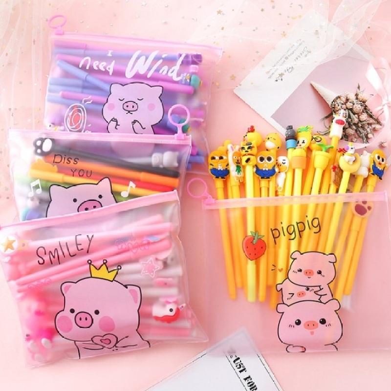 Mua Bút Viết Nhiều Màu (Mực Đen - tặng Túi Zip)