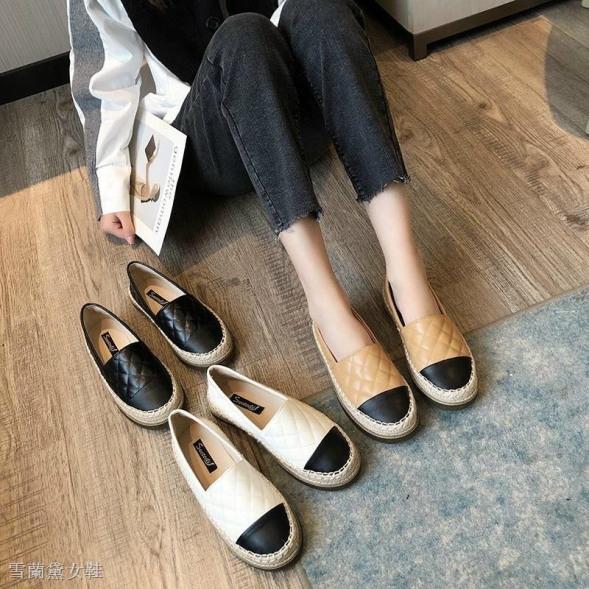 [SenXanh] Giày slip on da mịn trần chỉ đế cói siêu nhẹ - 2P giá rẻ