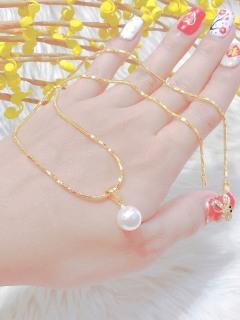 [HCM]Dây chuyền nữ mạ vàng 18K JK Silver gồm cả mặt và dây cho độ sáng lấp lánh cao cam kết không đen không bay màu không gây dị ứng thích hợp đi tiệc cực sang chảnh thumbnail