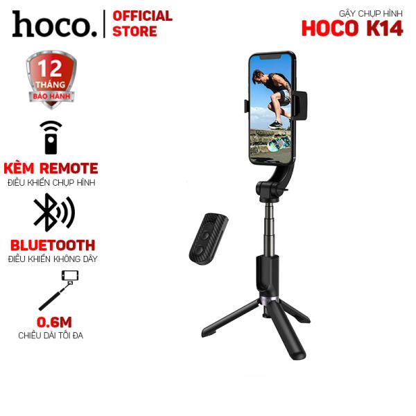 Gậy selfie có bluetooth Hoco K14 V3.0 chống rung kèm remote- dài 0.6m