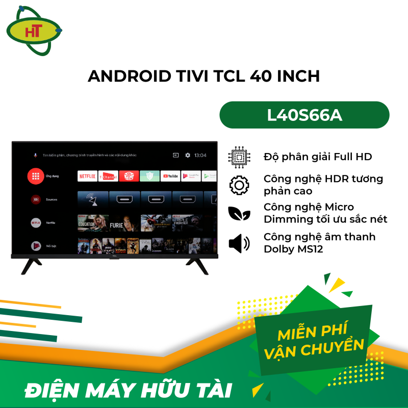 Bảng giá Android Tivi TCL 40 inch L40S66A