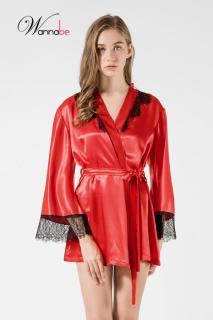 Áo choàng ngủ Wannabe KI596 phối ren lông mi tinh tế nữ tính, nhẹ nhàng thumbnail