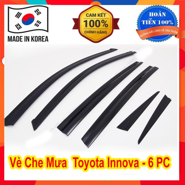 Vè Che Mưa Xe Toyota Innova 2008 đến 2019 2020 - 6 Chi Tiết Màu Đen Hàng Hàn Quốc Có Sẵn Keo 2 Mặt Dán Siêu Chắc, Phụ Kiện Trang Trí Ngoại Thất Xe Sang Trọng Và Tiện Dụng Hơn