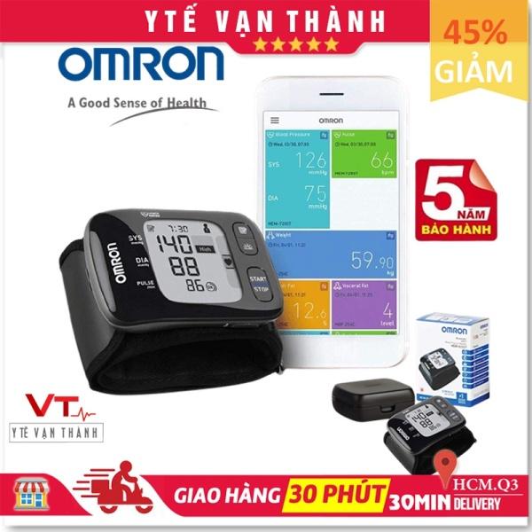 ✅ [Chính Hãng DKSH] Máy Đo Huyết Áp Cổ Tay: Omron HEM-6232T HEM 6232T 6232 (Kết Nối Smartphone) - [Y Tế Vạn Thành] - Mã SP: VT0522