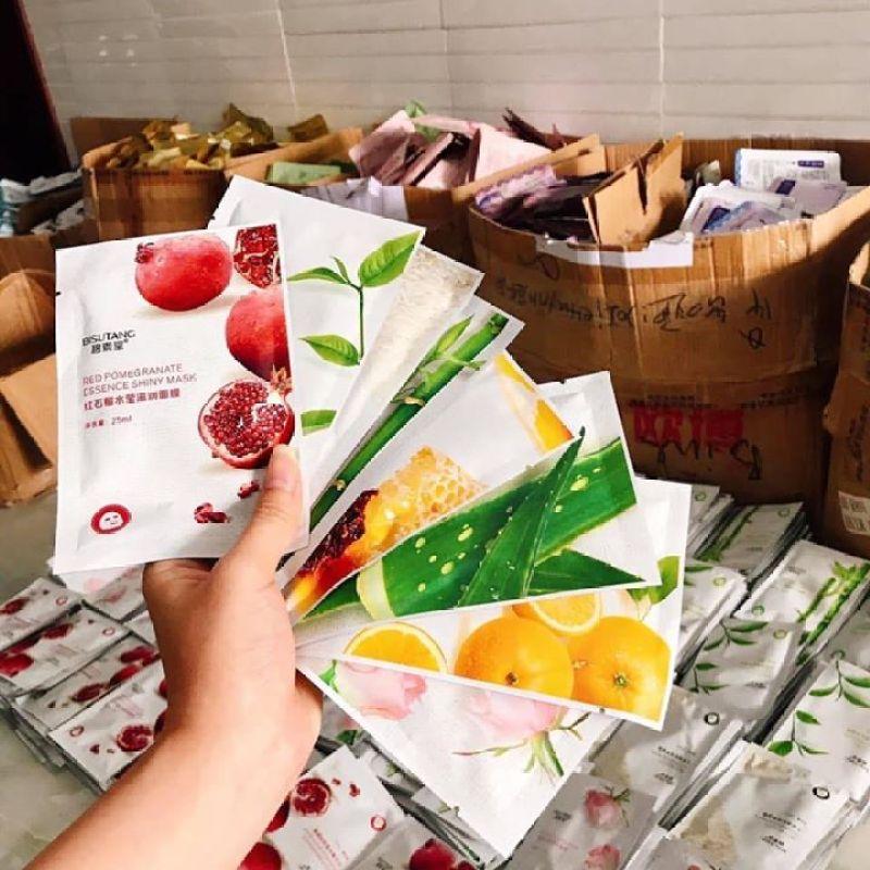 Combo 10 Miếng Mặt Nạ Trái Cây Tự Nhiên Bisutang 8 Vị nhập khẩu
