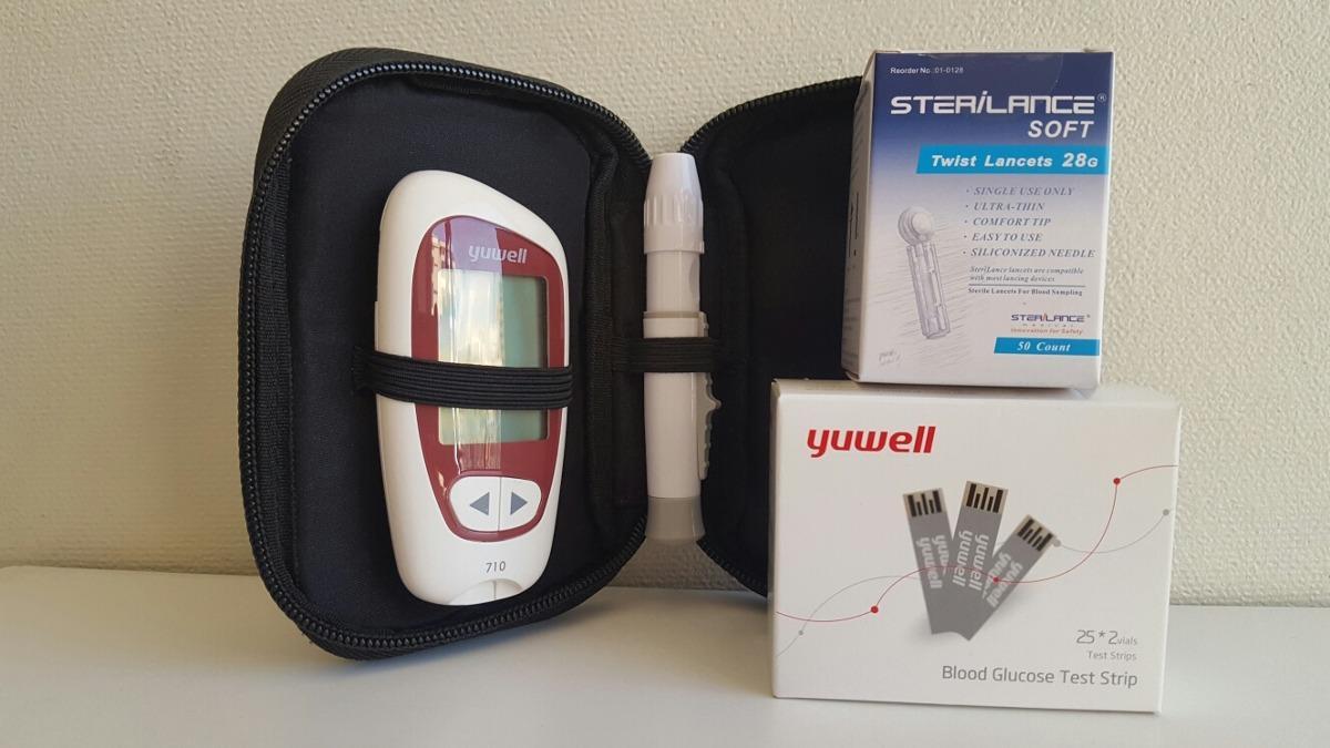 Máy đo đường huyết Yuwell 710 TẶNG 50 kim + 50 que thử nhập khẩu